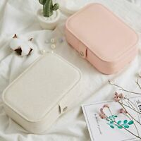 Girl  Jewelry Box Portable Cortex Earring Ring Multi-function Jewelry Box~