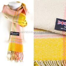 Womens Winter Warm 100% Cashmere Plaid Scarf High Quality Scotland Made Scarves