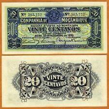 Mozambique, 20 Centavos, 1933, Portugal, Pick R29, UNC