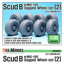 DEF. Model, SCUD B avec MAZ-543 affaissée Wheel Set 2, DW35057, 1:35