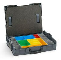 L Boxx 102 Bosch Sortimo mit Einlage  Insetboxenset Sortimentskasten anthrazit