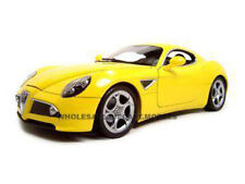 ALFA ROMEO 8C COMPETIZIONE YELLOW 1:18 DIECAST MODEL CAR BY BBURAGO 12077