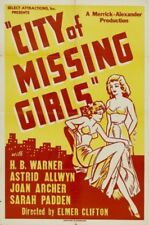 City of Missing Girls 1941 H.B. Warner, Astrid Allwyn Crime drama DVD