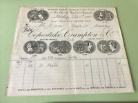 Copestake Crampton & Co 1909  London illustrated Medals receipt Ref R32172