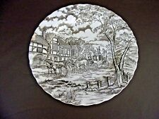 Royal Mail Ironstone Brown 10 Inch Dinner Plate (Chipped)