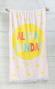 Bambury Fringed Printed Beach Towel (80 x 160cm) - Aloha