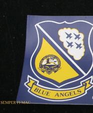 BLUE ANGELS SEAL CREST LOGO MINI STICKER DECAL made in US NAVY VET AIRSHOW WING