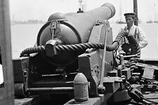 New 5x7 Civil War Photo: 100 Pounder Gun on Confederate Gunboat TEASER