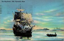 Postcard The Mayflower 1620 Plymouth Mass