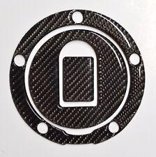 Real Carbon fiber Gas Cap Tank Sticker fits Kawasaki ZX6R ZX10R ZX12R ZZR NINJA