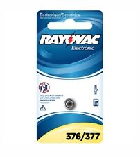 Rayovac Electronic 376/377 Silver Oxide Batteries. 1-Pack