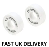 2 x PTFE Threaded Sealing PLUMBERS TAPE WATER TIGHT FITTING PIPE Plumbing Seals