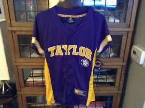 NWT TAYLOR UNIVERSITY Trojans Colosseum Strike Zone Baseball Jersey SZ S - Cool