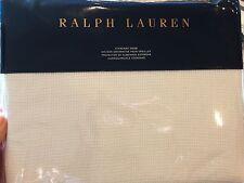 RALPH LAUREN HOME BLACK PALMS WARM WHITE COVE STANDARD SHAM $145