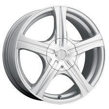 4-NEW Ultra 403S Slalom 15x6.5 5x100/5x114.3 +35mm Silver Wheels Rims