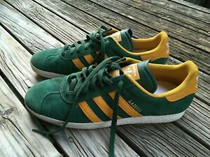 PUMA GAZELLE Mens Shoes Green and Gold Trainers Sneakers Leather