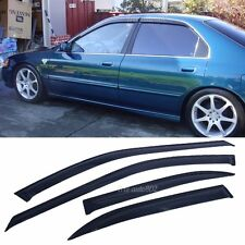 Fits 94-97 Honda Accord Sedan Slim Type Window Visors 4Pc Set