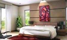 ART, figurative expressionist, painting 'TANGLE' Mix Lang URBAN Original, C.O.A.