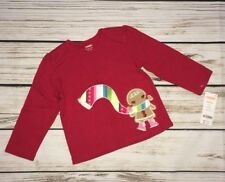 NWT Gymboree Size 18 24 months Winter Cheer Red Gingerbread Girl Scarf Shirt Top