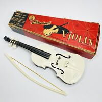 Vintage Antique Toy Carnival Violin Fiddle Plastic Instrument - Original Box (S)
