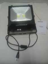 LEPOWER 100W LED Flood Light Outdoor, Super Bright Work Light Plug in