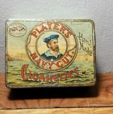 Vintage Player's Navy Cut Gold Leaf Cigarette Tobacco Tin John Player England