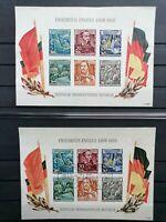 2x DDR 1955 Engels Block 13 II. Wahl gestempelt/ungebraucht ohne Gummi