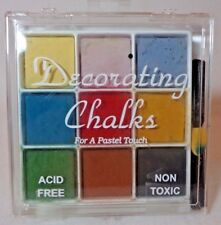 Craf-t Products Decorating Chalk 9 Color Set - Kit 3 For A Pastel Touch
