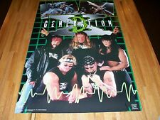 Degeneration X WWF Poster 23 X 35 Out of Print WWE DX RARE Triple H Chyna