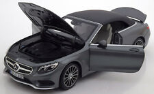 2015 Mercedes Benz S Class Cabriolet A217 Grey Metallic by Norev 1/18 Scale New!