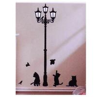 Cat Street Light Stickers Wall Decal Removable Art DIY Room Mural Decor KE