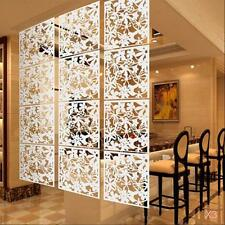 12Pcs Flower Wall Sticker Hanging Screen Panel Room Divider Partition White