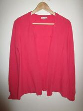 GARNET HILL CASHMERE SWEATER Size MEDIUM M Salmon Pink Open Front Cardigan