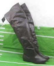 NEW LADIES  Womens  brown  Flat round toe Over Knee Sexy  Boots Size 8