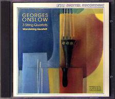 Georges ONSLOW string quartet op.9 47 Mandelring quatuor CPO CD quatuor à cordes