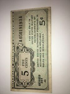 1946 5 cents MPC Series 461