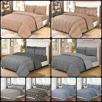New Luxury 4 Piece 100% Cotton Duvet Cover Bedding Set Single Double King Size
