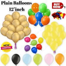 25-100 Latex PLAIN BALONS BALLONS helium BALLOONS Quality Party Decorations NEW