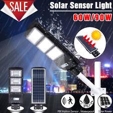90W 180LED Solar Street Light Radar Induction PIR Motion Sensor Wall Lamp H