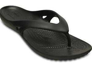 Women's CROCS Kadee ll Flip Flops Sandals Black, Navy, Pink, Leopard ,Flamingo