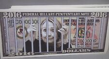 WHOLESALE LOT OF 100 HILLARY CLINTON FOR PRISON USA Fake MONEY Trump President $