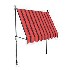 Markise Balkon Klemmmarkise Sonnenschutz 295x120cm Orange ohne Bohren B-Ware
