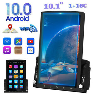 """10.1"""" 2 Din Car Stereo Radio Android 10 GPS WiFi Vertical Touch Screen FM Player"""