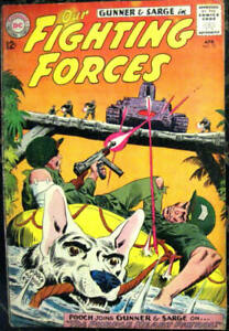 OUR FIGHTING FORCES# 75 Apr 1963 Gunner and Sarge Pooch Joe Kubert Cover: 6.0 FN