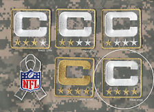 NFL TRIBUTE TO THE MILITARY CAMOUFLAGE CAPTAINS PATCH FOUR-STAR (WHITE) C-PATCH