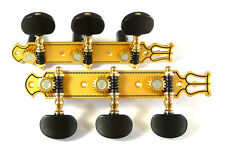 Classical Guitar gold machine head tuner with ebony buttons 102G-E
