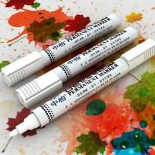 White Highlighter Marker Pens Thin Waterproof Car Tyre Pen Permanent B6N6