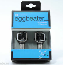 Crank Brothers Egg Beater 2 Pedals Silver with Black Spring, Cleats Included