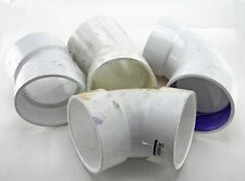 Mixed Lot of 4 Nibco Charlotte PVC DWV 4 inch Elbow Pipe Fittings 60 45 Degree