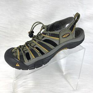KEEN Men's Sandals Size 8 Light Green/Yellow Waterproof